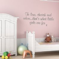 To Love Cherish and Adore ~ Wall sticker / decals